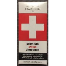 Chocolat noisettes Croix Suisse