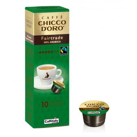 café fair trade en capsule Chicco d'oro